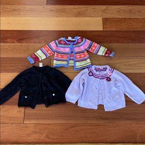 3 cardigan sweater bundle